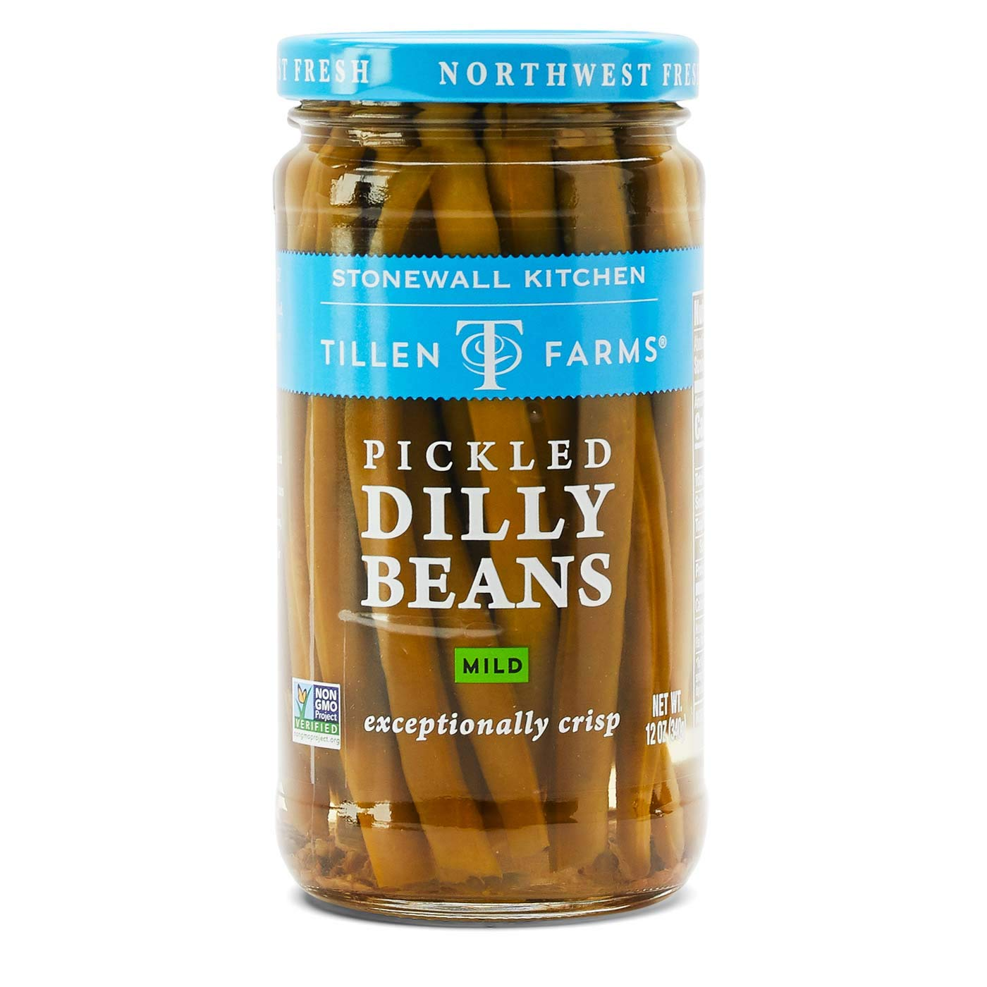 Tillen Farms Mild Dilly Beans, 12 oz (Pack of 6) by Tillen Farms