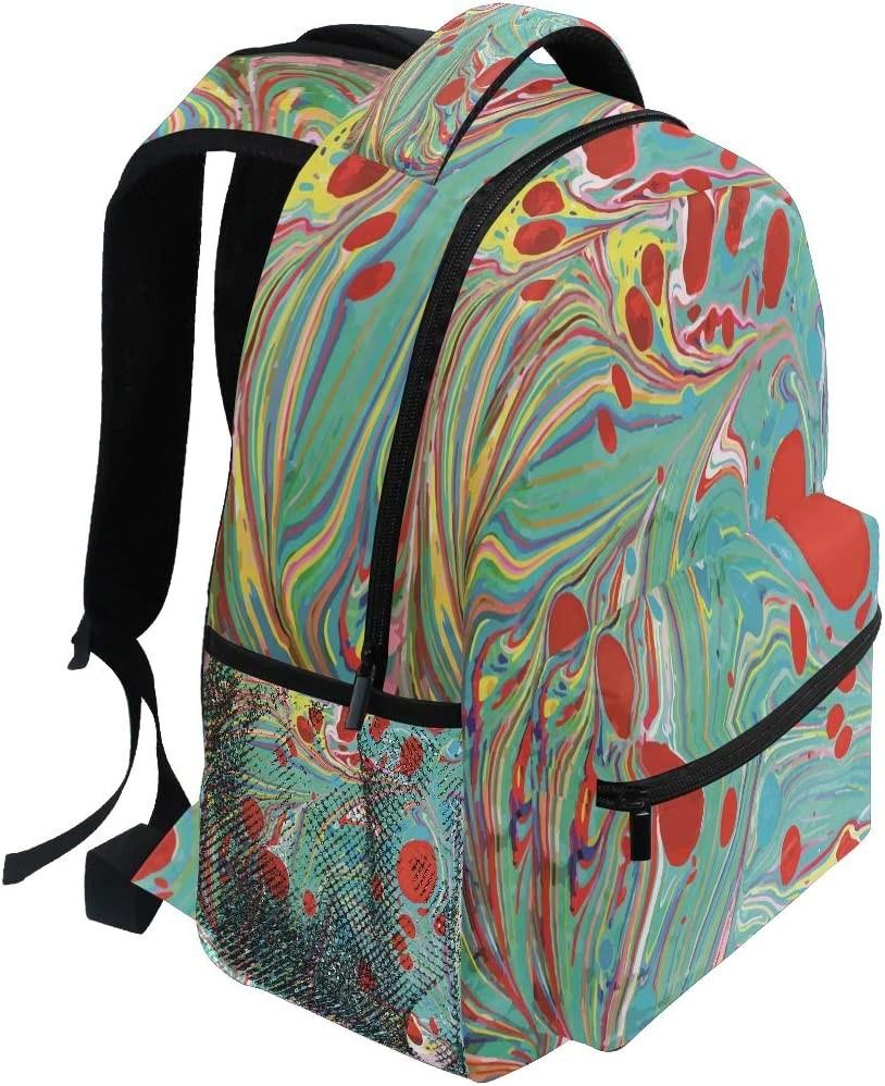 Nander Backpack Travel Colorful Paints Waterproof Multi-Pocket Daily Student Sports Bag Laptop Bookbags