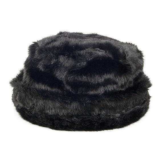 01520e5e99f Scala Faux Fur Bucket Hat - Black 1-Size  Amazon.co.uk  Clothing