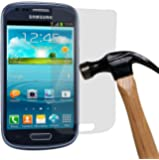 yayago Panzerglas 0,26 MM Displayschutzfolie für Samsung Galaxy S3 Mini / S3 Mini VE Glasfolie Hartglas 9H (bewusst kleiner als das Display, da dieses gewölbt ist)