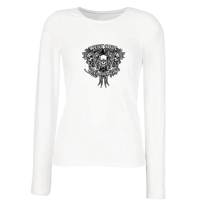 lepni.me Camisetas de Manga Larga para Mujer Alma del Oeste Sigue luchando, : Amazon.es: Ropa y accesorios