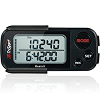 3DTriSport Supreme Quality Walking 3D Pedometer with Clip and Strap, and Free eBook | 30 Days Memory, Extremely Accurate Step Counter, Walking Distance Miles and Km, Calorie Counter, Daily Target Performance Monitor, Exercise Time - Multi-Function Pocket Pedometer with Advanced Tri-Axis Technology and Calories Burned.