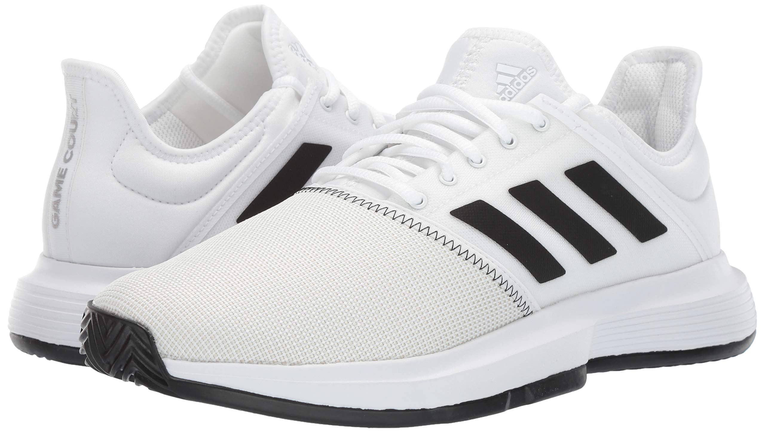 adidas Men's Gamecourt, White/Black/Grey 6.5 M US by adidas (Image #6)