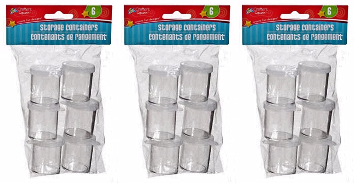Mini Storage Containers for Arts and Crafts, 3-pk Set (1 x 1 Inches) Crafter's Square 4336840121