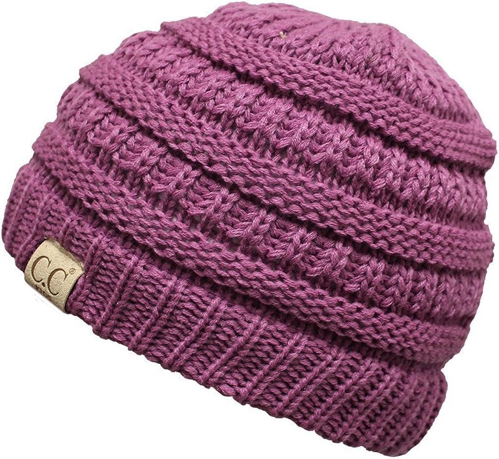 BYSUMMER C.C Kids Baby,Toddler and Children Soft Warm Skull Cap Beanie Winter Hat (new lavender)
