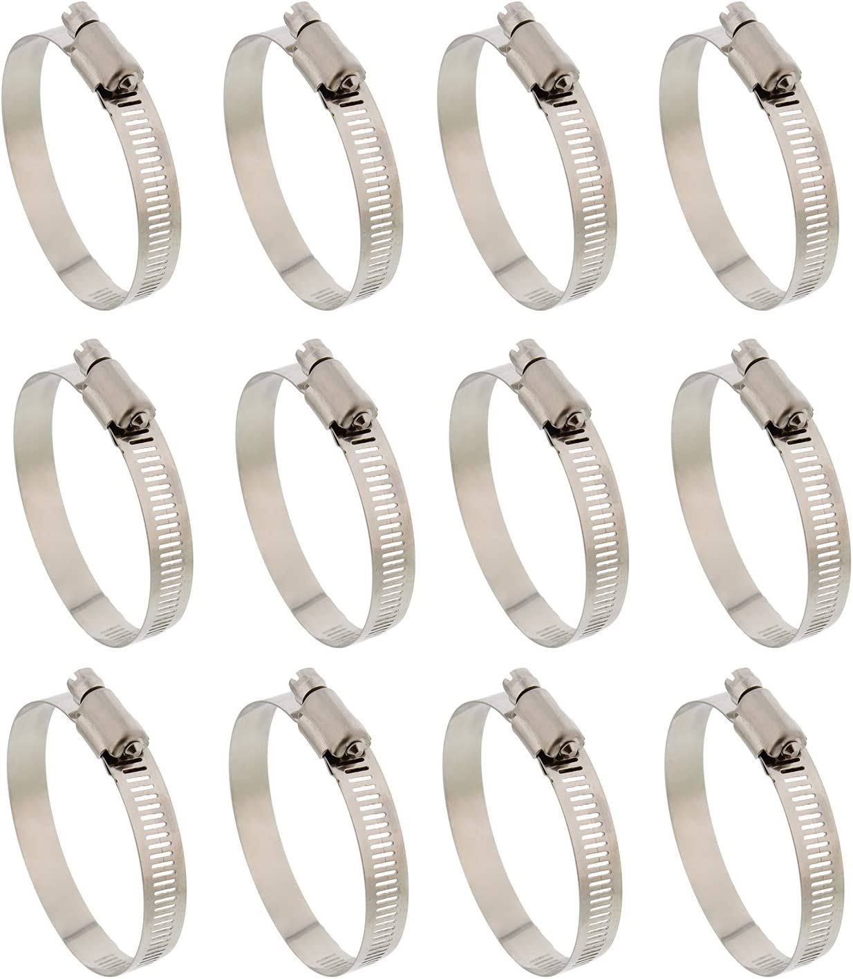 ABN Hose Clamp 12-Pack, 7/8in, Zinc Plated, 13-23mm Range – for Plumbing, Automotive, and Mechanical Applications