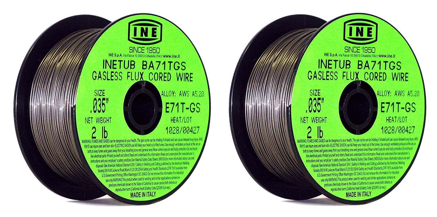 INETUB BA71TGS .035-Inch on 2-Pound Spool Carbon Steel Gasless Flux Cored Welding Wire (Pack of 4) - - Amazon.com