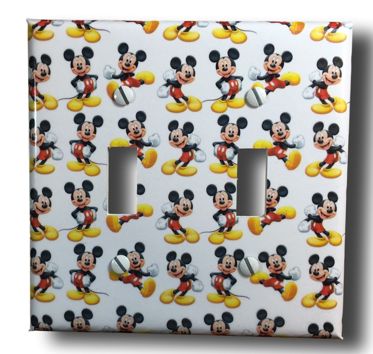 Mickey Mouse Double Toggle Light Switch Plate Cover