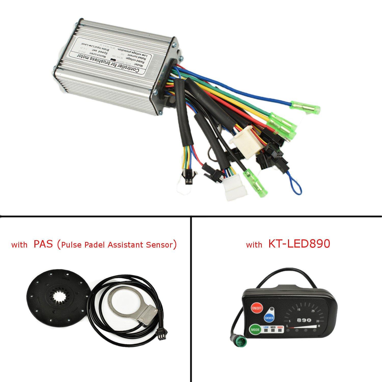 Pswpower 48 V 36 V, 350 W, 6 Mosfets, 17 A, bürstelnloser Sinuswellenregler mit KT-LED890 LCD