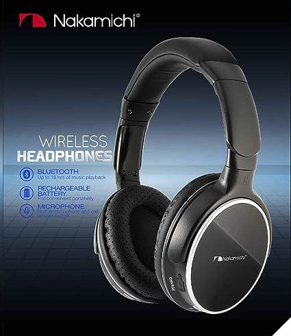NAKAMICHI Auricolares de diadema BTHP11 Bluetooth 4.0, larga duracion 18 horas: Amazon.es: Electrónica