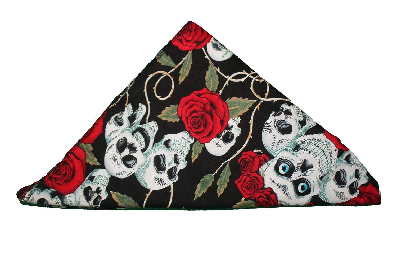 Cotton Bandanas Camo Skull Roses Steampunk Pirate Day Dead Army Alice