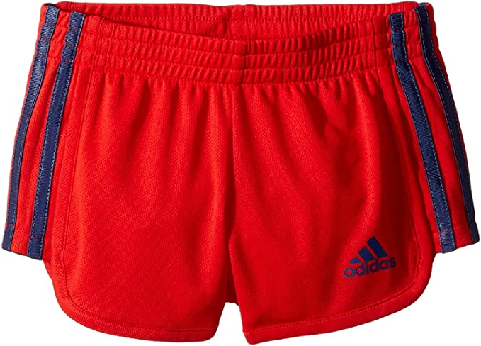 c7a6f506d adidas Kids Baby Girl's Around The Block Mesh Shorts (Toddler/Little Kids)  Bright