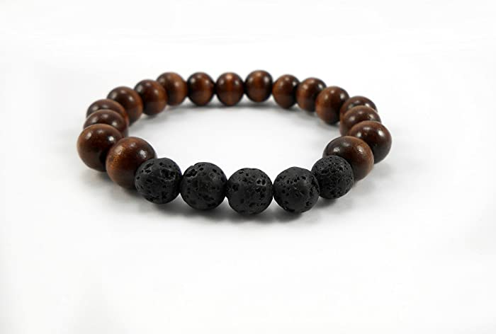 size wood products chakra bead bracelet leboha