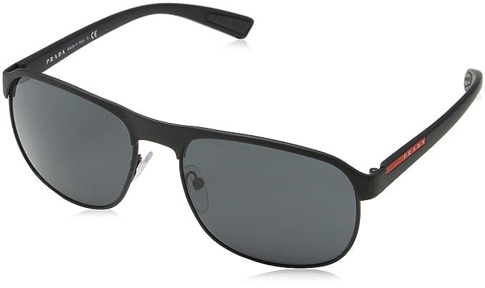 91c17d886c Prada Sport - Gafa de sol color negro, 60 mm: Amazon.es: Ropa y accesorios