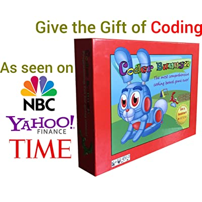 Coder Bunnyz - The Most Comprehensive STEM Coding Board Game Ever! Learn All The Concepts You Ever Need in Computer Programming in a Fun Adventure. Featured at TIME, NBC, Sony, Google, Maker Faires!: Toys & Games