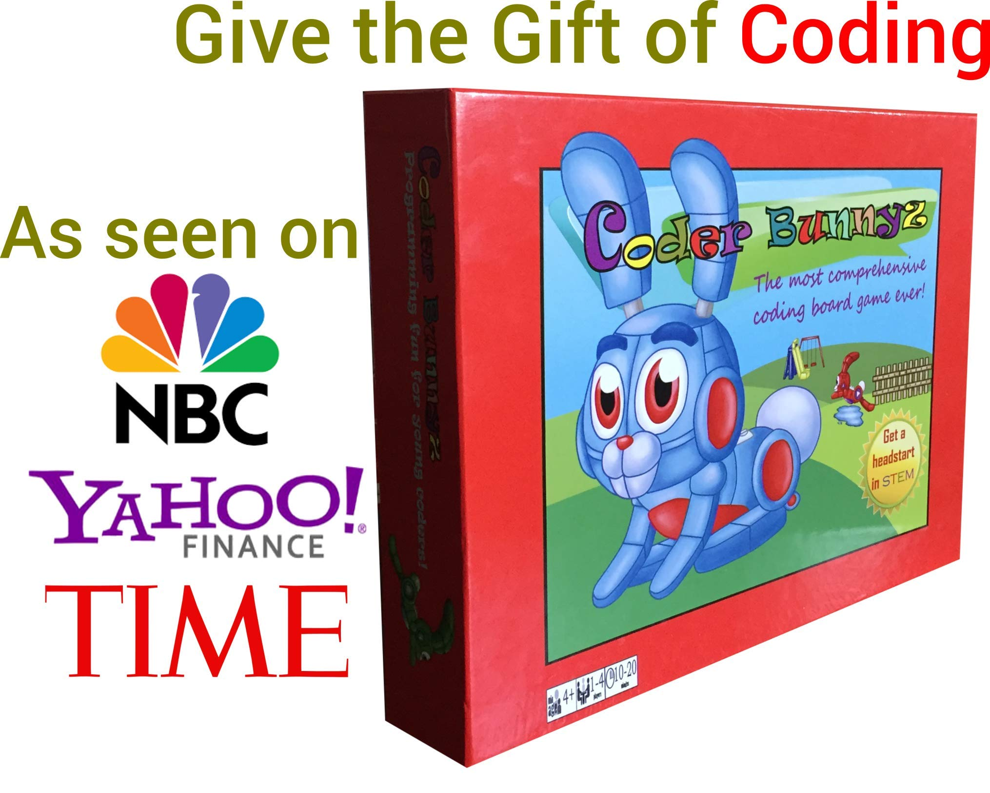 Coder Bunnyz - The Most Comprehensive STEM Coding Board Game Ever! Learn All The Concepts You Ever Need in Computer Programming in a Fun Adventure. Featured at TIME, NBC, Sony, Google, Maker Faires!
