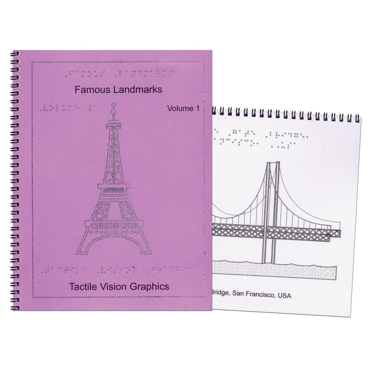 Famous Landmarks-Braille and Tactile 2-Book Set by MaxiAids