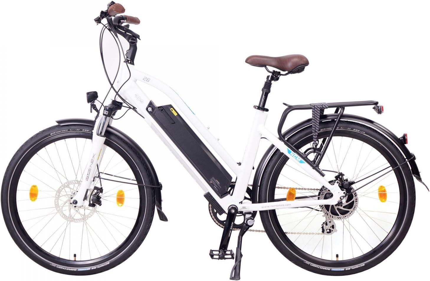 wei/ß NCM Milano 48V schwarz 26 // 28 Urban Trekking E-Bike Elektrofahrrad Pedelec 250W 13Ah 624Wh