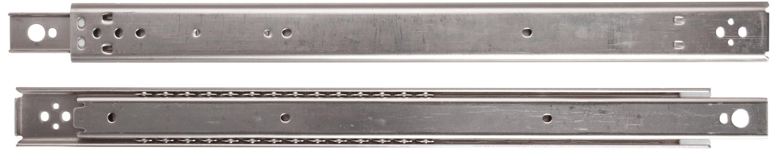 Sugastune ESR-1 304 Stainless Steel Drawer Slide, 3/4 Extension, Friction Brake Stop, 28'' Closed, 20'' Travel, 55 lbs/Pack Ld Cap (1 Pair)