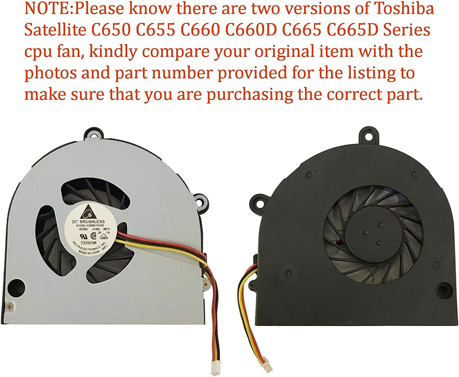 Todiys CPU Cooling Fan for Toshiba Satellite C650 C655 C660 C660D C665 C665D Series C650-101 C650-BT4N12 C655-S5049 C655-S9510D C660-02L C660-2GM C660-23N C665-S5123 C665-S5512 DC280008DN0