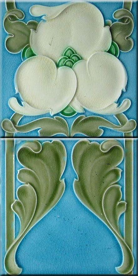. Amazon com  Art nouveau fireplace decorative ceramic wall tile