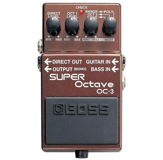 Boss OC-3 Super octava Efecto gerä T + Keepdrum Guitarra Cable 3 m: Amazon.es: Instrumentos musicales