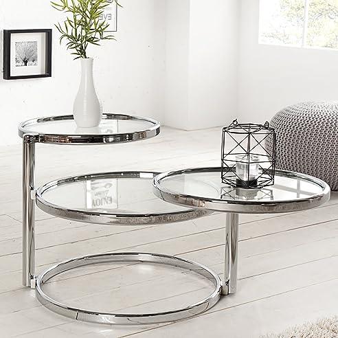 chrom glas rund beautiful couchtisch quadratisch x cm mit glasplatte cubus with chrom glas rund. Black Bedroom Furniture Sets. Home Design Ideas