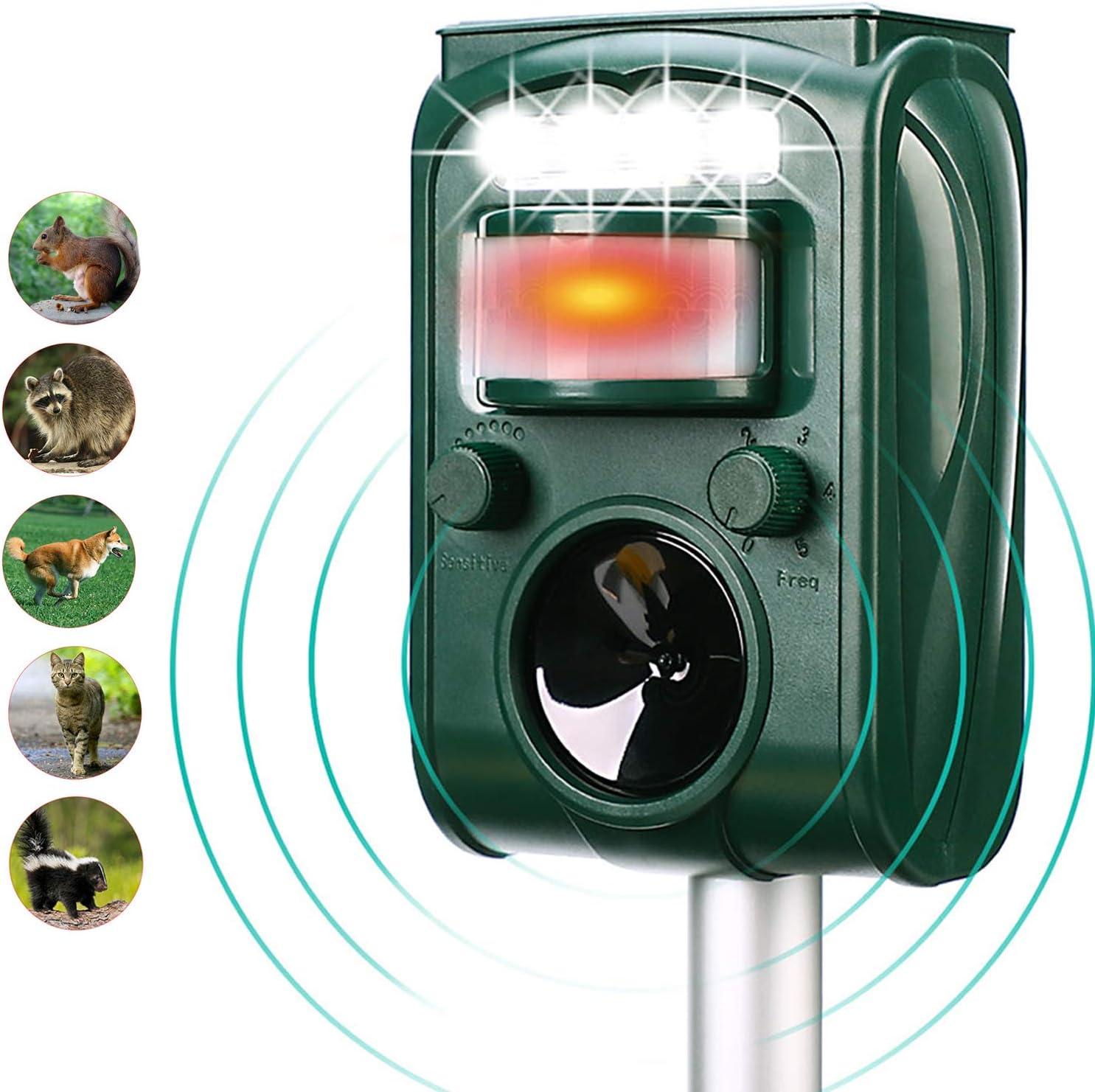 Aspectek Solar-Powered Ultrasonic Animal and Bird Repeller