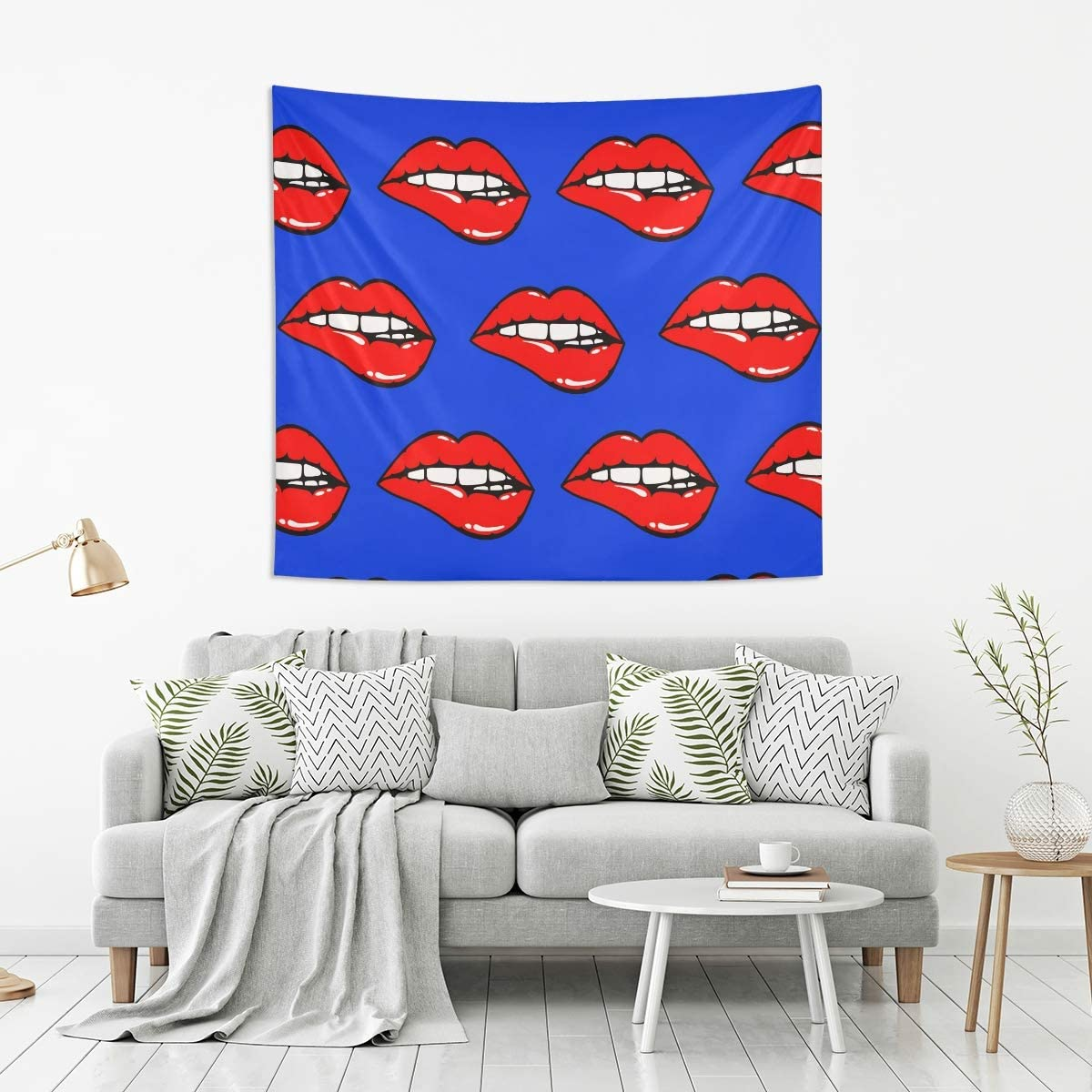 Amazon Com Housingmart Wall Hanging Tapestry Sexy Women Lips Print Tapestries Wall Blanket Tapestry Wall Art Decor For Living Room Bedroom Kitchen Dorm 80x60 Inch Home Kitchen