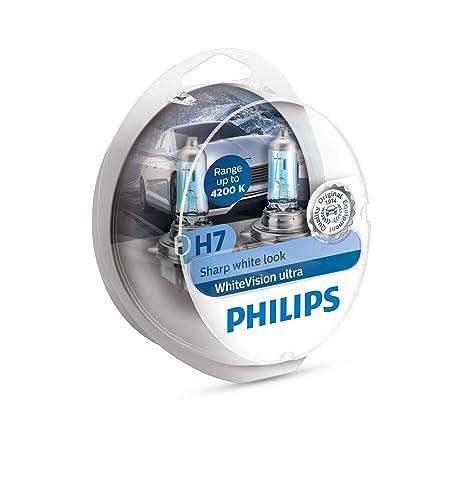 Philips WhiteVision bombilla para faros delanteros de coches 12972WVUSM - Bombilla para coches (H7,