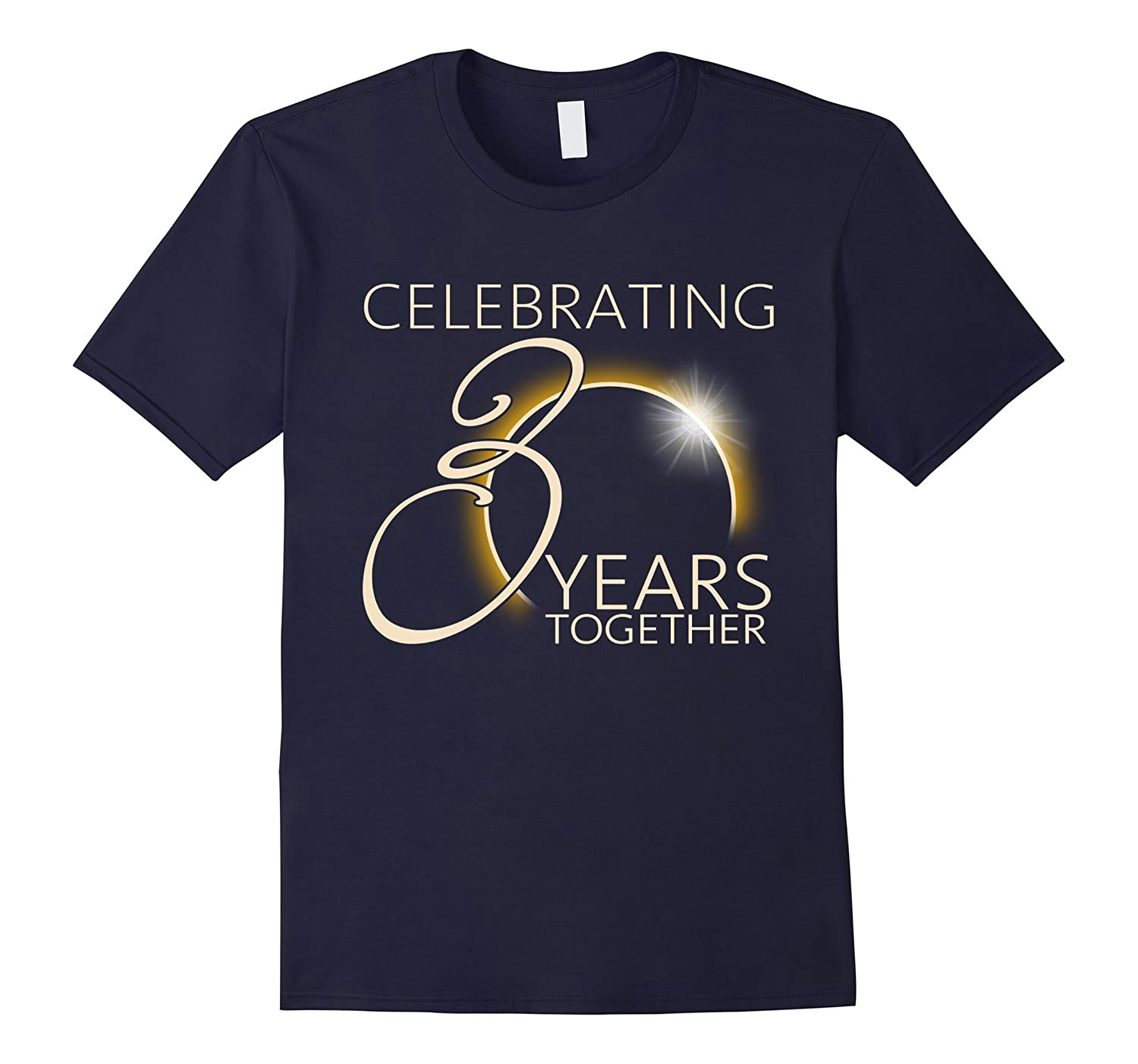 Celebrating 30 Years Together T-shirt Total Solar Eclipse-Art