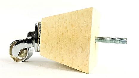 Knightsbrandnu2u 4 x Madera Maciza Patas de Muebles de Repuesto pies de Ruedas para rincón,