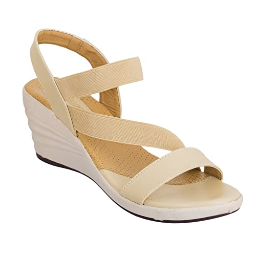 c664a1975fb9 DEEANNE LONDON Women Wedges Heels  Buy Online at Low Prices in India -  Amazon.in