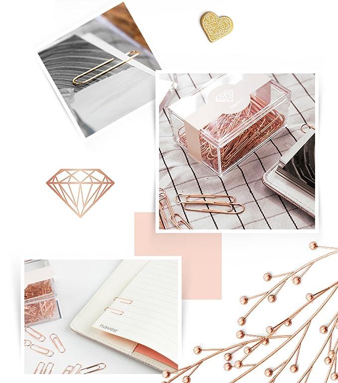 in acrilico riutilizzabili per graffette Luce lusso Fashion graffette 28mm/50mm 200PCS/70PCS per box 50 mm rose Gold Edition
