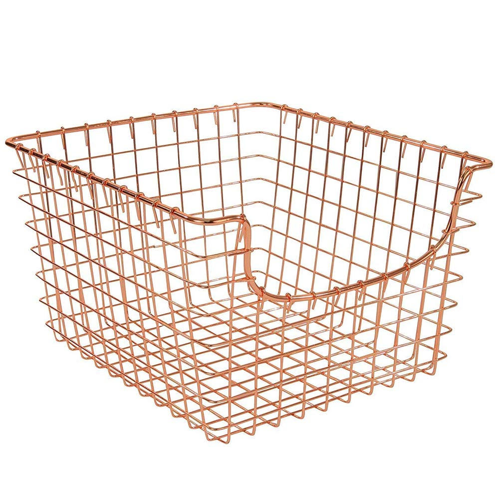 MD Group Wire Basket - Copper, 12.125'' x 8'' x 13'' x 9 lbs, Large