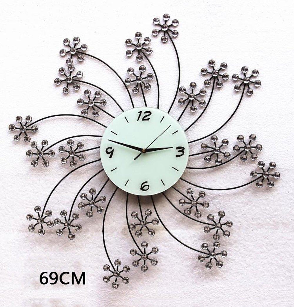 ZHENAI 錆 金属 壁時計 ファッション ミュート 背景装飾、 オプションの16のスタイル ( 色 : C-69cm ) B07BV4JC27 C-69cm C-69cm