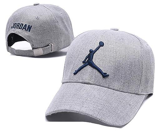 Jordan Sports Caps Men Women Cotton Running Caps Sport Hat Street Snapback Cap Sun Hats Street Hip-hop Basketball Caps at Amazon Mens Clothing store: