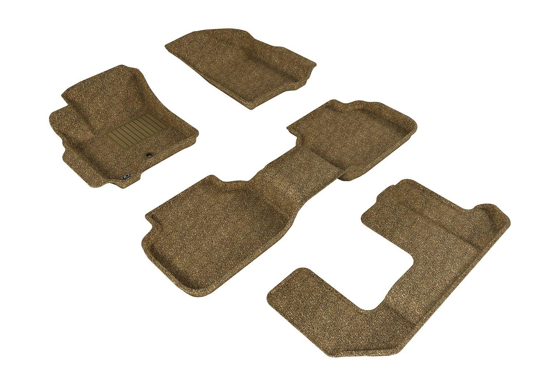 L1BC00222202 Classic Carpet 3D MAXpider Second Row Custom Fit All-Weather Floor Mat for Select Buick LaCrosse Models Tan