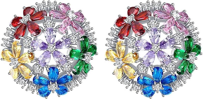 Gold Plated Earring Women Girl Waterdrop Stud Earrings White Wedding Graduation Gift Cubic Zirconia