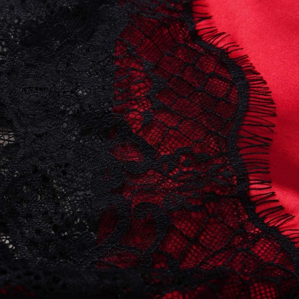 Satin Silk Pajamas Bow Nightdress Lingerie Women Underwear Sleepwear Satin