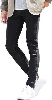 JIGGYS SHOP スキニー デニムパンツ メンズ ストレッチ素材 フルレングス & アンクル