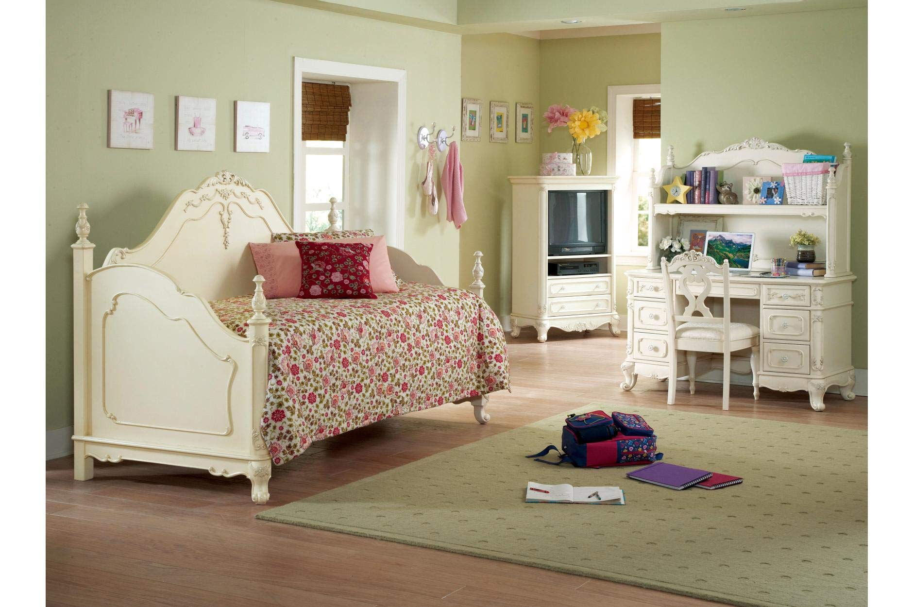 Homelegance Cinderella Youth Bedroom 5Pc Set w/ Daybed in Antique White