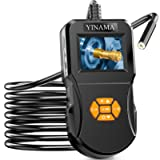 Industrial endoscope, YINAMA Digital Inspection Camera, Single High-definition 2.4-inch IPS Screen, with 8 LED lights…
