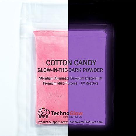 Rosa algodón de azúcar brillan en la oscuridad y UV Polvo: Amazon.es: Juguetes y juegos