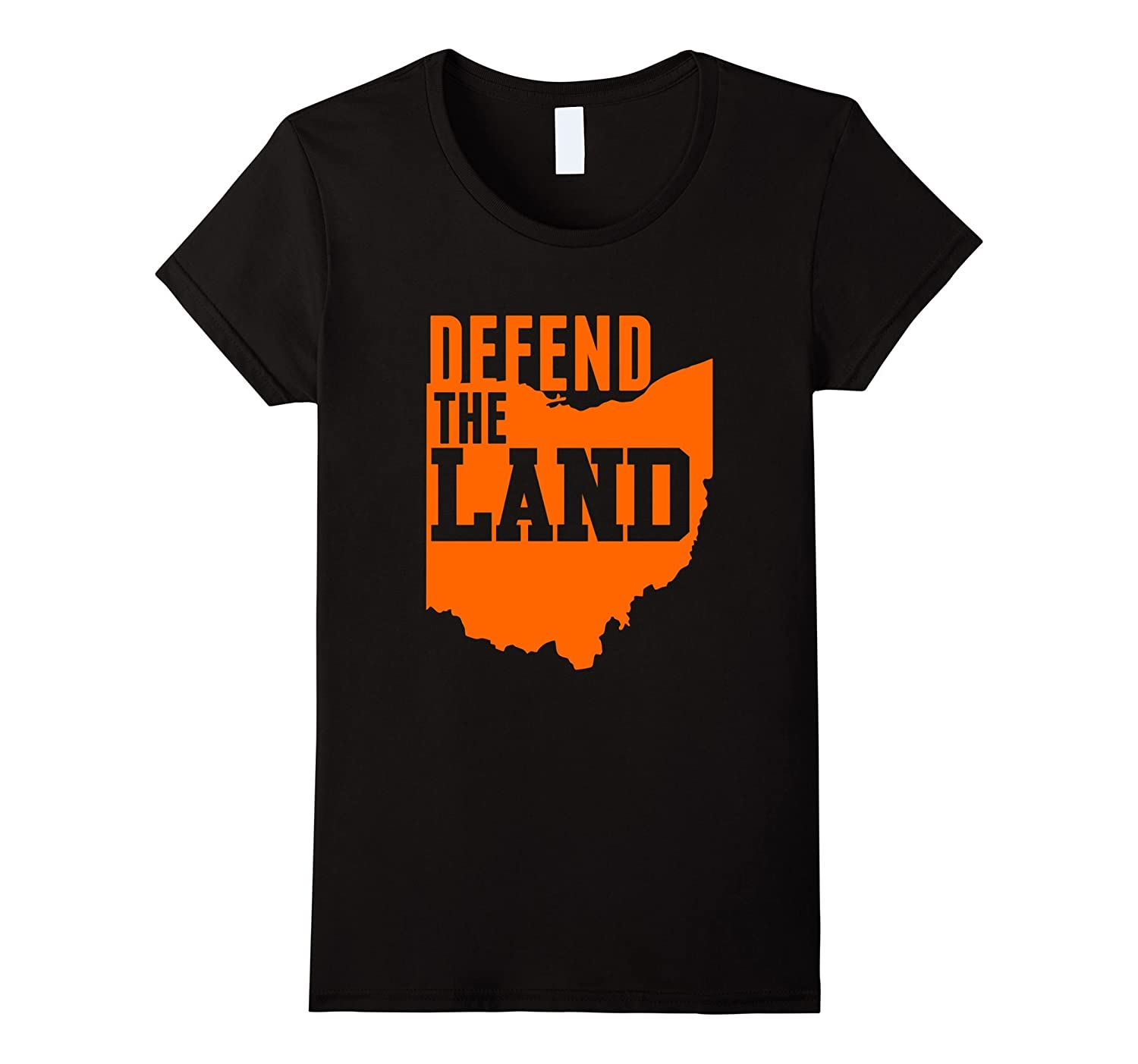 Cleveland Defend The Land Ohio Outline T-Shirt
