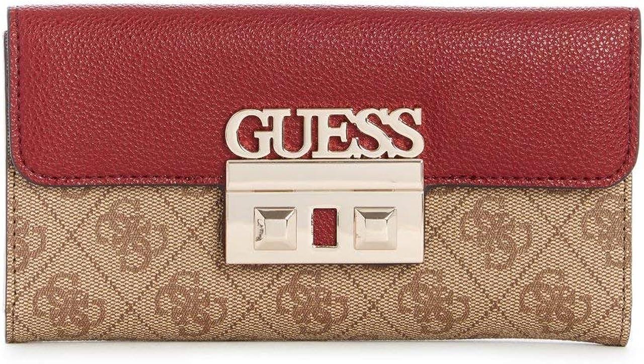 Guess Women's Logo Luxe Tri-Fold Clutch Wallet