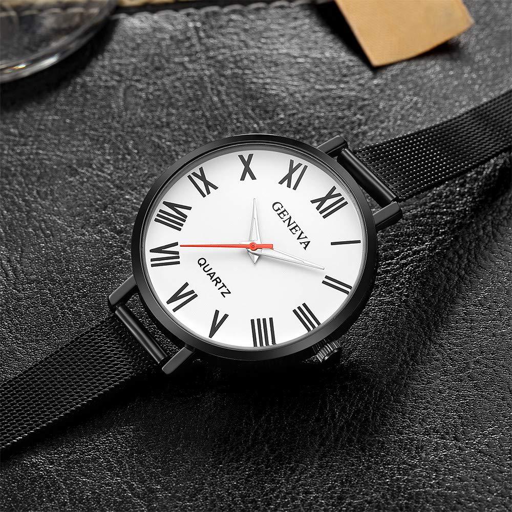 Bestow Relojes de Pulsera de Cuarzo de la Venda del Acero Inoxidable de la Manera de Las Mujeres anš¢logas Ocasionales de la Moda (blancoA): Amazon.es: Ropa ...
