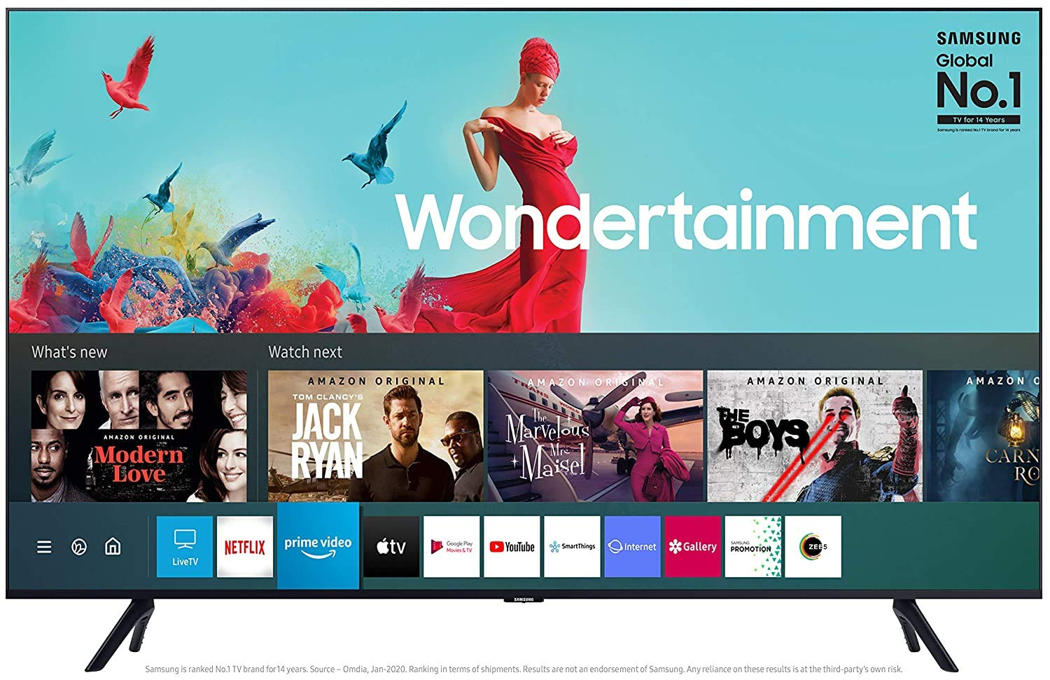 Samsung 108 cm (43 Inches) Wondertainment Series Ultra HD LED Smart TV UA43TUE60FKXXL (Black) (2020 model)