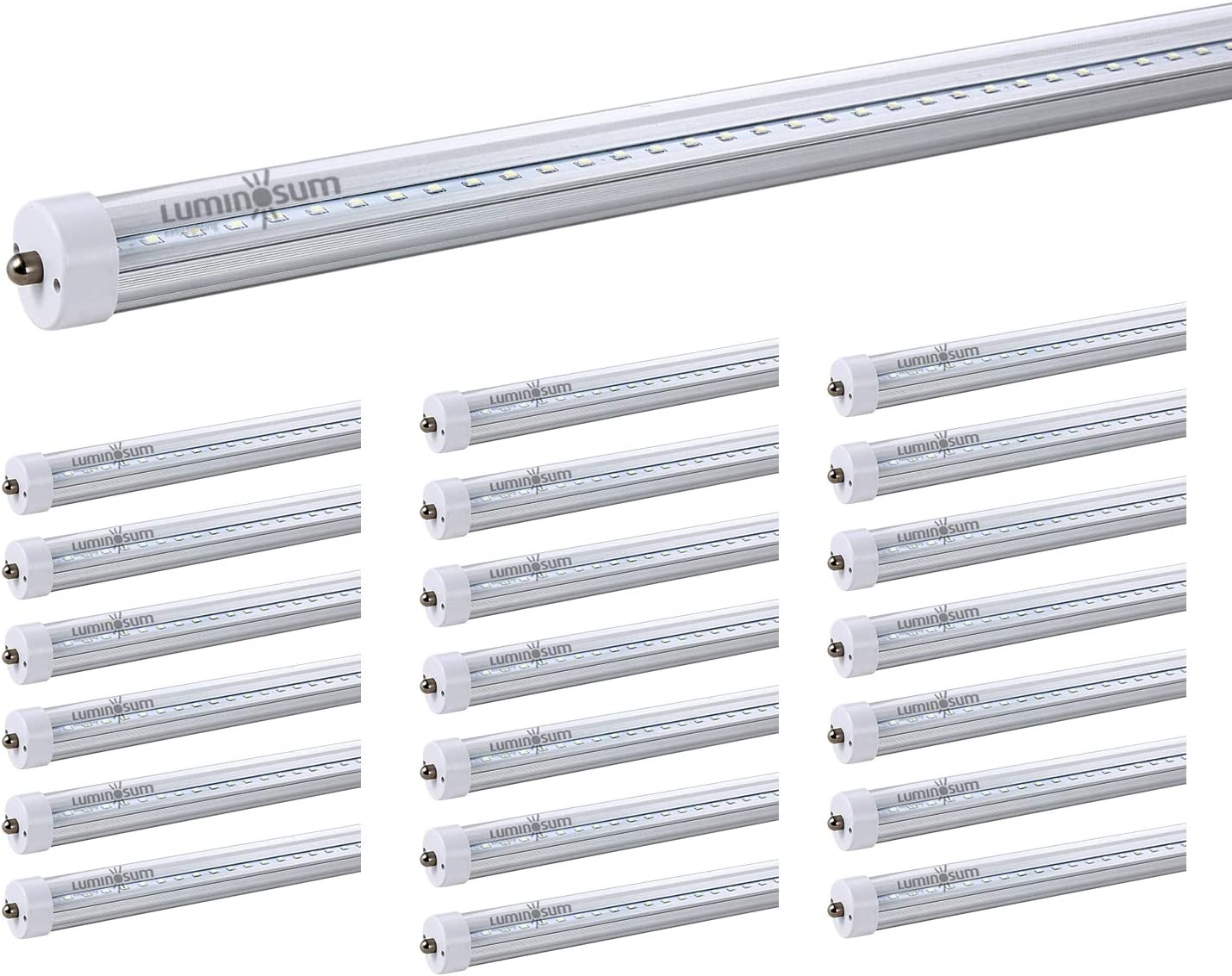 LED T8 tube light 8ft 240cm direct replacement warm//natural//cool white.