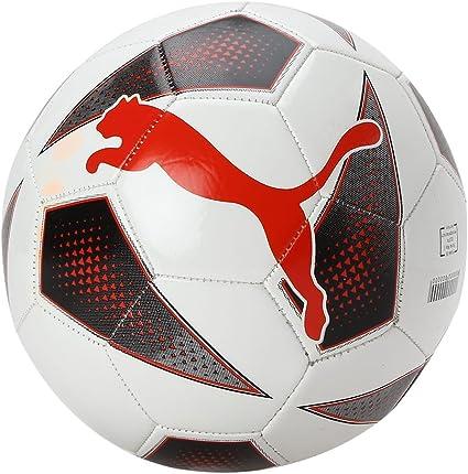 PUMA Balón de fútbol tamaño 5 Blanco y Rojo 082917-01: Amazon.es ...